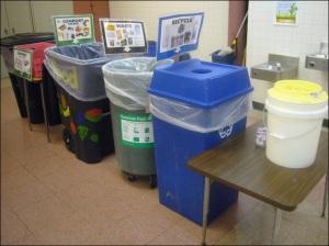 Cafeteria-Composting-Setup