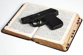 Gun on Bible