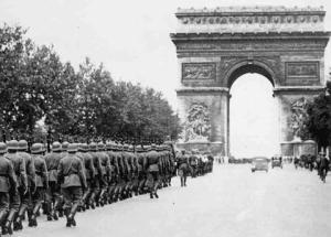 Nazis Marchging in Paris