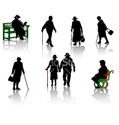 AAAAAAAA -old-people-silhouette-vector-6629