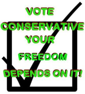 VOTE CONSERVATIVE CHECK MARK